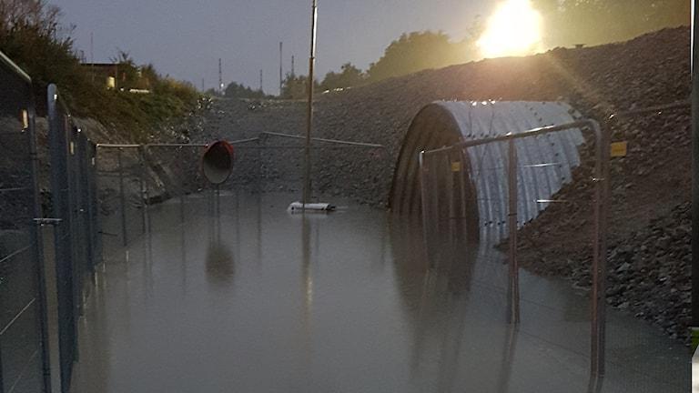 gångtunnel åkarps station