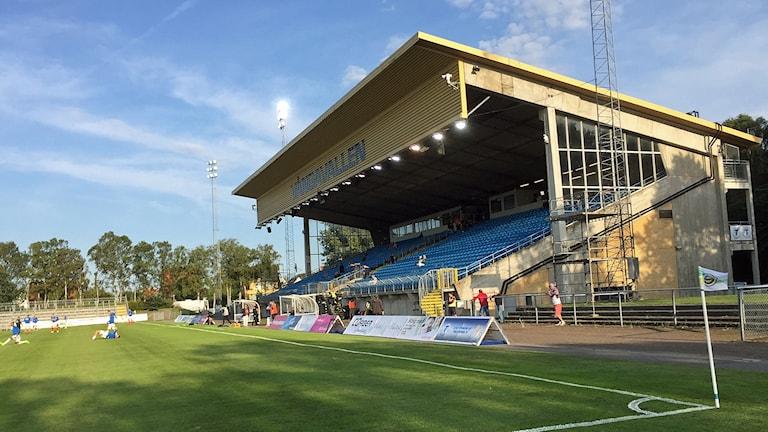 Trelleborgs FF:s hemmaplan Vångavallen. Foto: Hans Zillén/Sveriges Radio.