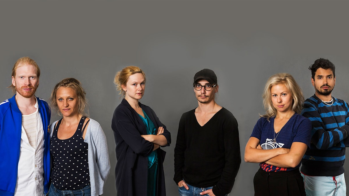 Jörgen Thorsson, Maria Sundbom, Frida Beckman, Michael Jonsson, Lisa Larsson och Tito Pencheff i Att läsa: Motståndets estetik.