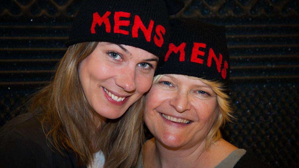 Helena Gezelius och Åsa Gustafsson hörs i Mens (Foto: Rolf Hilton/Sveriges Radio)