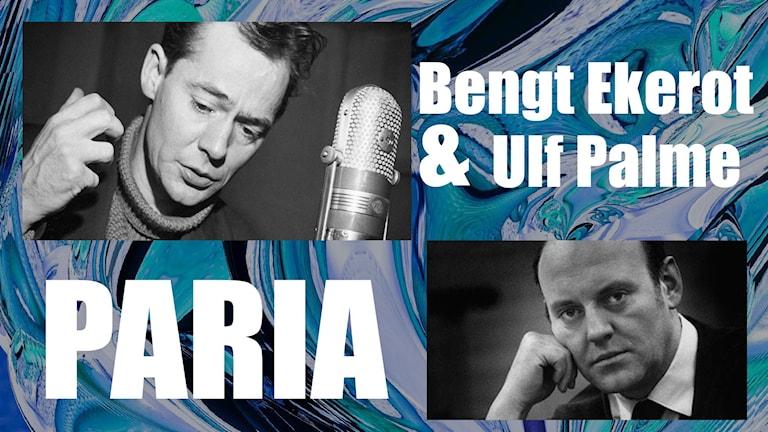 Bengt Ekerot och Ulf Palme i Strindbergs Paria
