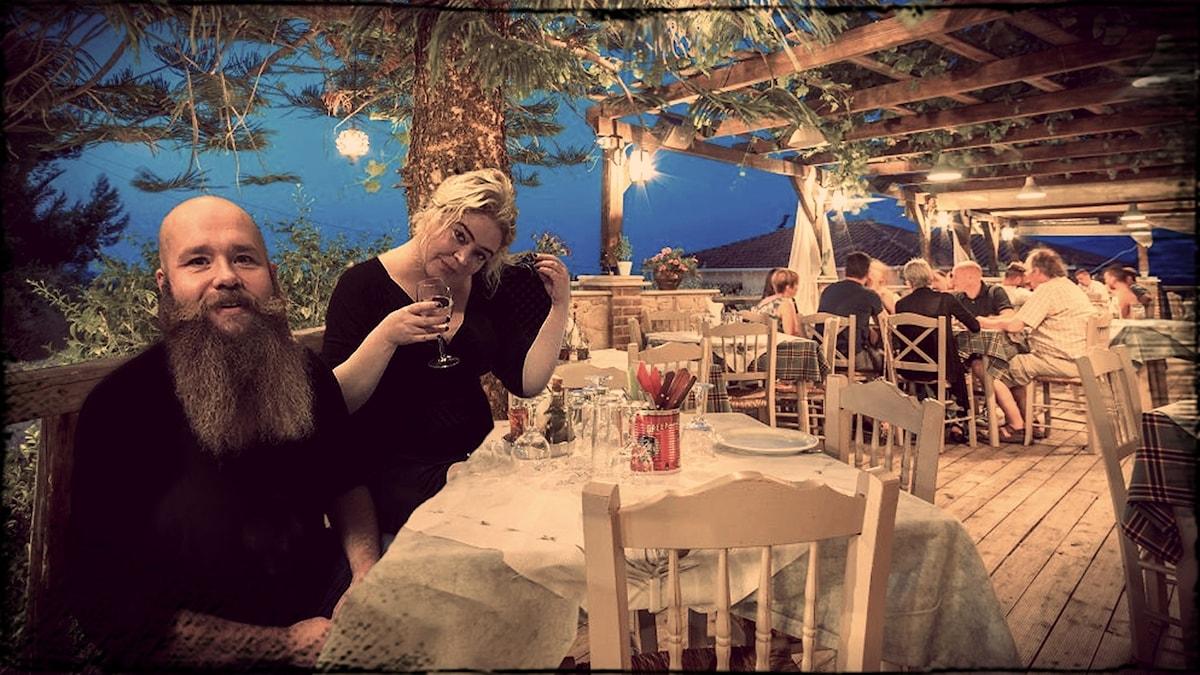 Strandad av Malin Lindroth med Peter Lorentzon och Caisa-Stina Forsberg.
