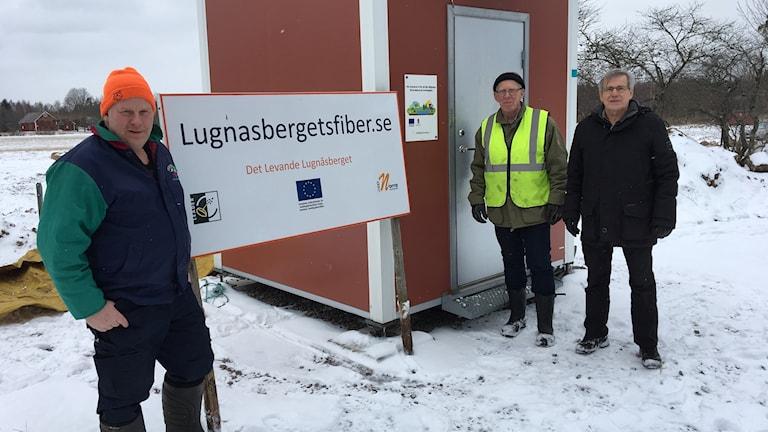 Lugnåsbergets fiberförening utanför Mariestad
