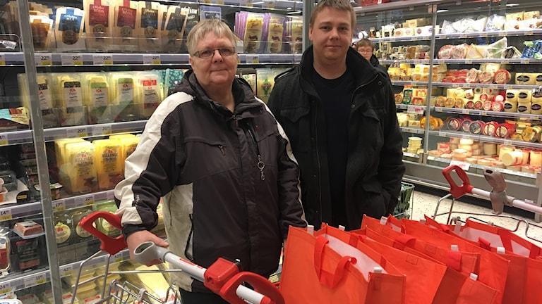 Marita Lindblom och Alexander Olsson på Välviljan