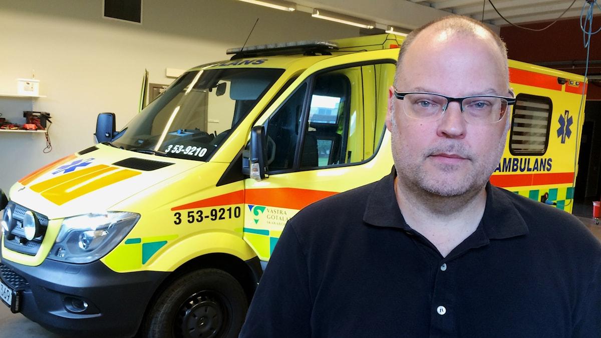 Hans Halén, verksamhetschef för ambulansen i Skaraborg
