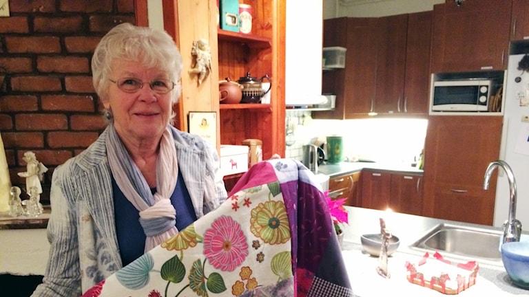 Birgitta Backlund med P4-täcket