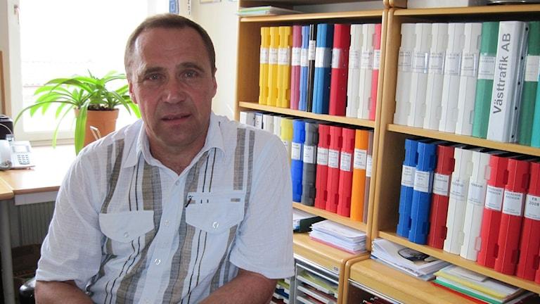 Peter Lindroth (S) väljer bort sociala medier. Foto: Linnéa Frimodig SR Skaraborg.