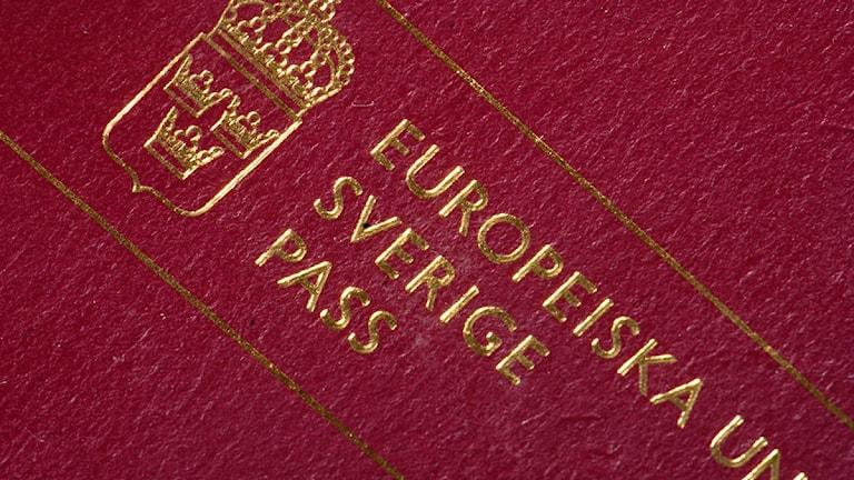 Ett svenskt pass. Foto: Hasse Holmberg / TT.