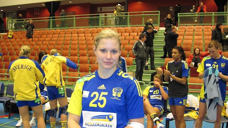 Angelica Wallén bidrog till att ta Sverige till OS och hoppas nu knipa en plats i laget som får åka till Rio. Arkivbild.