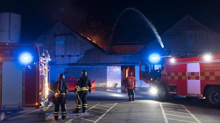 Brand på Rörstrandsområdet