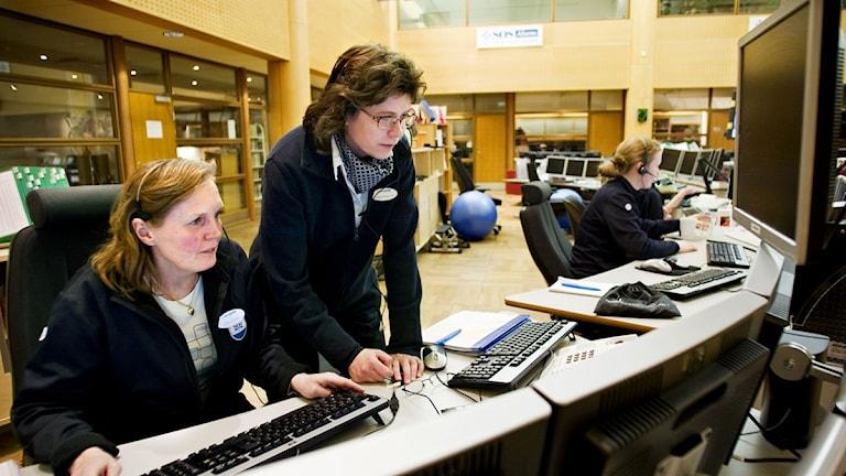 Många samtal tas emot av SOS Alarm. Foto: Christine Ohlsson/SCANPIX