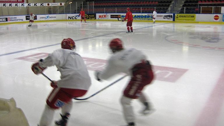 Ishockeyträning i Billingehov. Foto Erik Holmlund/SR Skaraborg