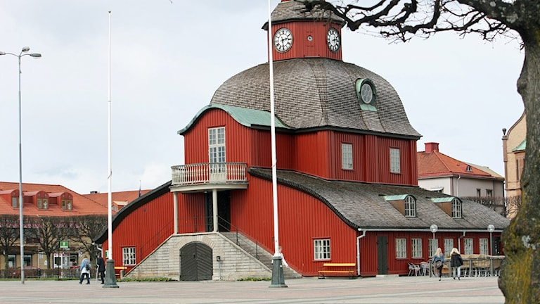 Nya stadens torg i Lidköping. Foto: Marie Schnell-Forkman/P4 Skaraborg Sveriges Radio.