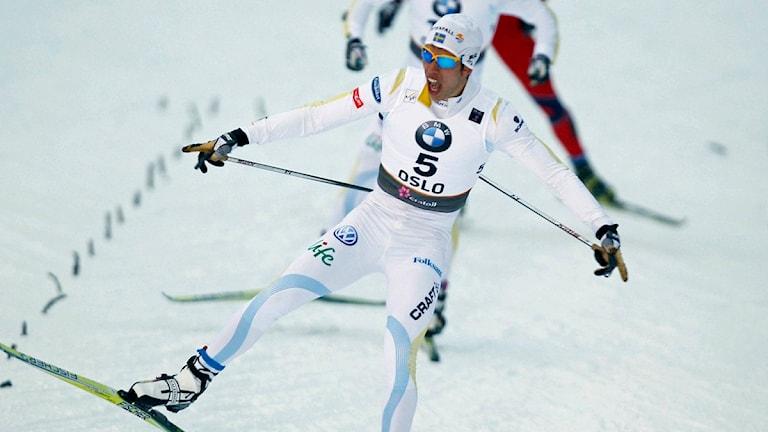 Marcus Hellner tog guld på VM i Oslo. Foto: Heiko Junge/Scanpix