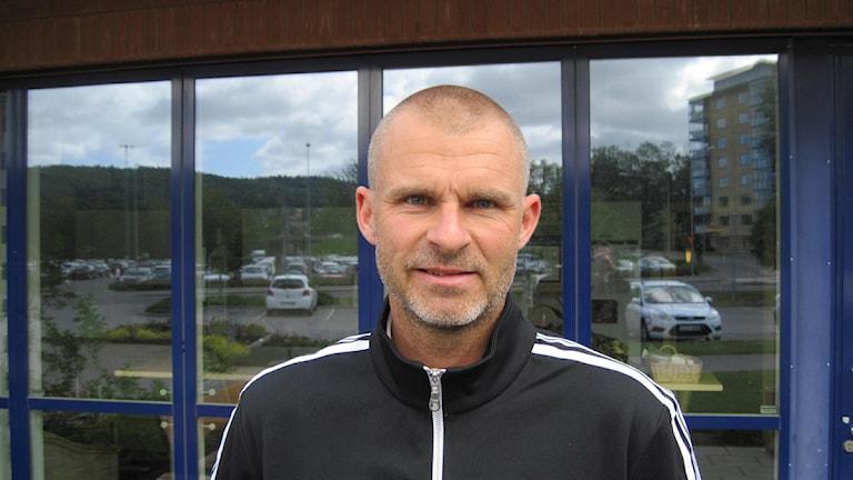 Michael Lerjéus, allsvensk fotbollsdomare från Skövde. Foto: Thorbjörn Karlsson/P4 Skaraborg Sveriges Radio.