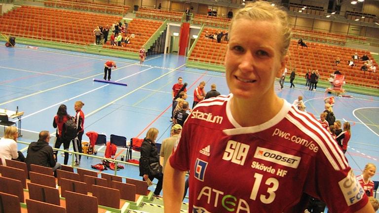 Anna Maria Johansson och det svenska landslaget siktar på att gå hela vägen vid EM. Arkivfoto: Jens Prytz, P4 Skaraborg Sveriges Radio.