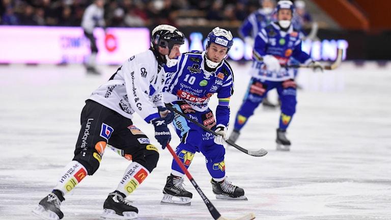 Villa Lidköpings lagkapten David Karlsson gjorde tre mål mot IK Sirius. Fotograf: Villa Lidköping.