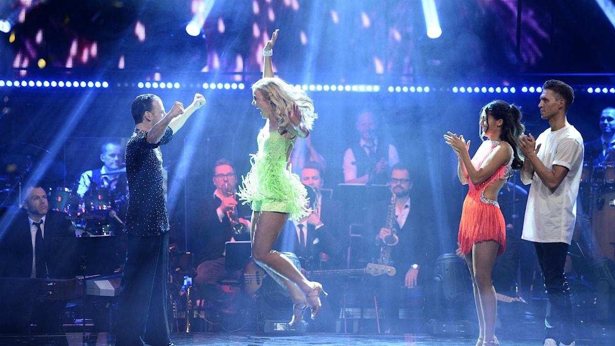 Elisa Lindström och danspartnern Yvo Eussen vinner fredagens final i TV4:s Let's Dance