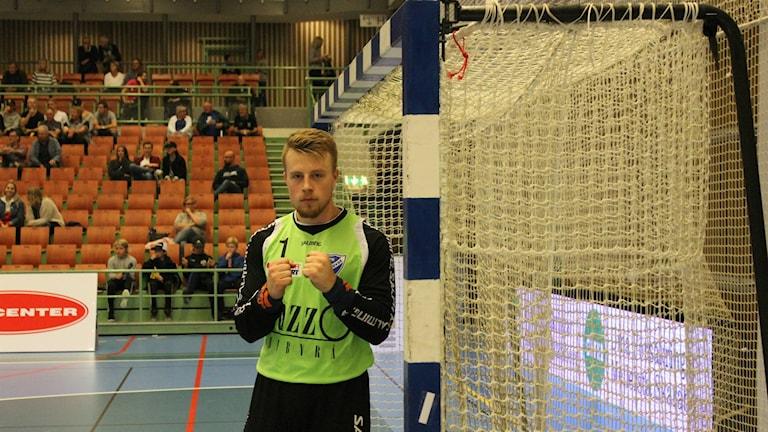 Pål Ahlmark målvakt i IFK Skövde på gång. Foto Tommy Järlström P4 Sveriges Radio.