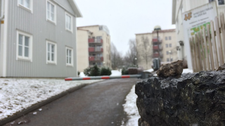 I det här området i Falköping skedde rånet.