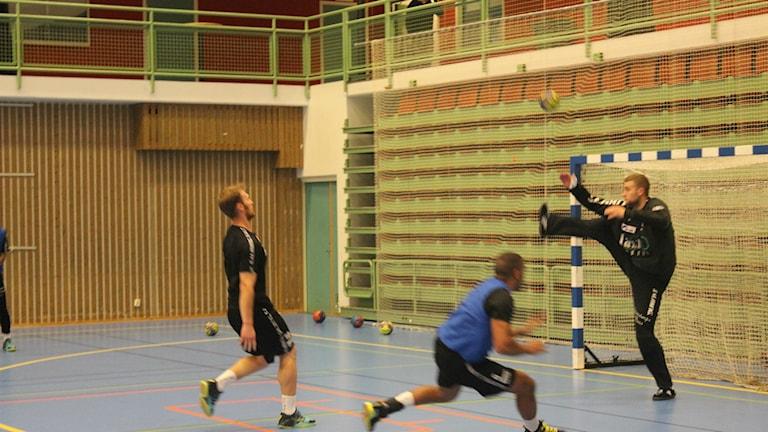Markus Holmén, ny målvakt i IFK Skövde. Foto Tommy Järlström P4 Sveriges Radio.