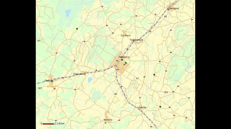 Karta Falköping