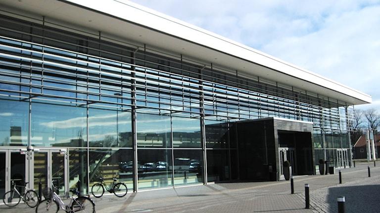 Skövde HF:s hemmaplan är här inne - i Arena Skövde. Foto: Christopher Johansson/P4 Skaraborg Sveriges Radio