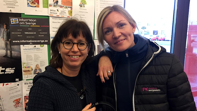 Carina Grönqvist och Linnéa Frimodig