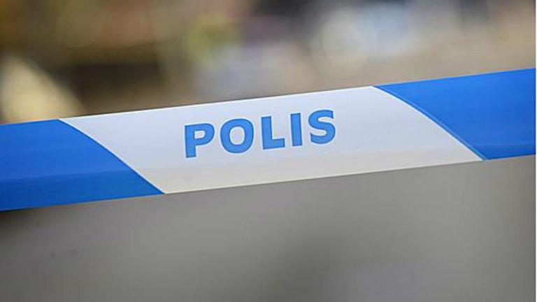 polis olycka avspärrning
