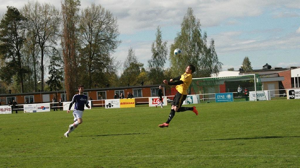 Tibro AIK besegrade Fässberg i dagens match med 1-0. Foto: Magnus Sundvall/P4 Skaraborg Sveriges Radio.