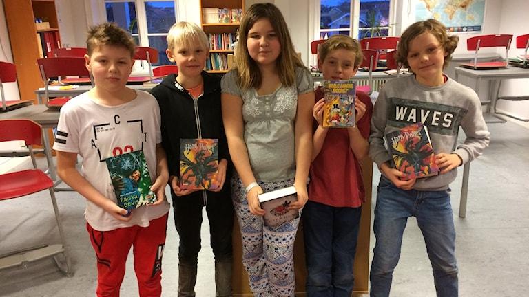 Fjärdeklassare på Montessori-skolan i Skövde.