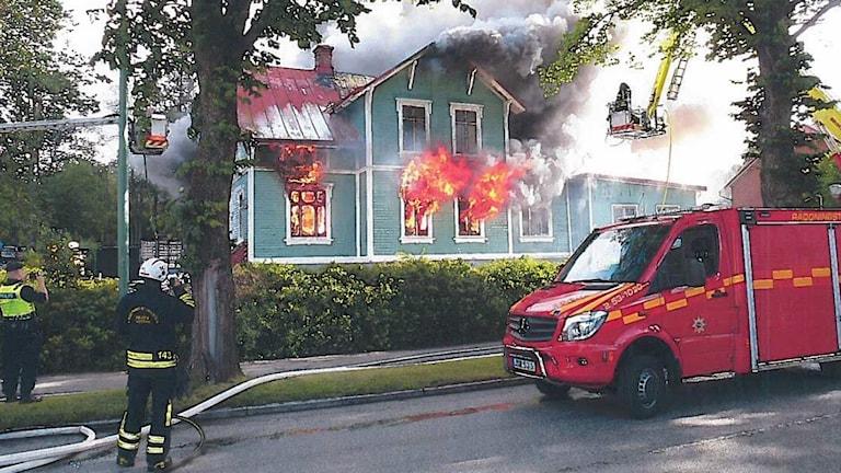 Brand i förskolan Urd