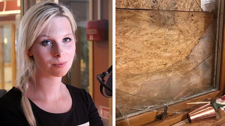 Hanna Wighs bild av krossat fönster