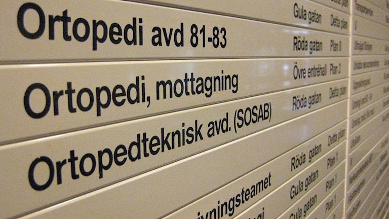 Socialstyrelsen ser inget fel i att stänga en hel ortopedavdelning och ger sjukhusledningen rätt trots läkarnas protester. Foto: Cristian Ölund, P4 Skaraborg Sveriges Radio.