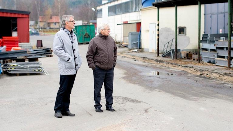 Kommunchefen Günther Hähnert och kommunalrådet Curt B Gustavsson (S)