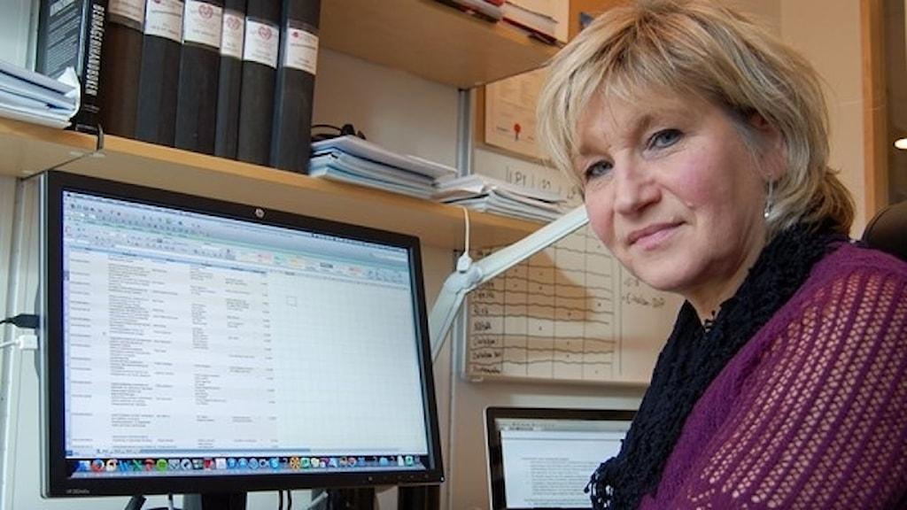 Rose-Mharie Åhlfeldt på högskolan i Skövde.