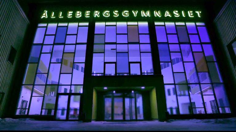 Ållebergsgymnasiet i Falköping har satsat en halv miljon kronor på en reklamfilm. Foto: Skärmdump / youtube.com