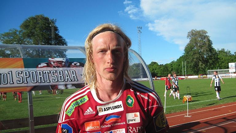Martin Gerhardsson har nu skrivit på ett kontrakt med Tibro AIK. Arkivfoto Tommy Järlström P4 Skaraborg Sveriges Radio.