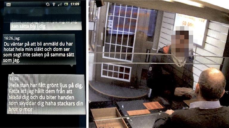 Denna bild fanns med i polisens förra utredning när mannen dömdes för knarkförsäljning Foto: Polisens förundersökning