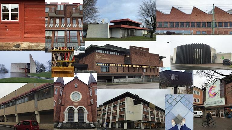 Collage av bilder från Skövde