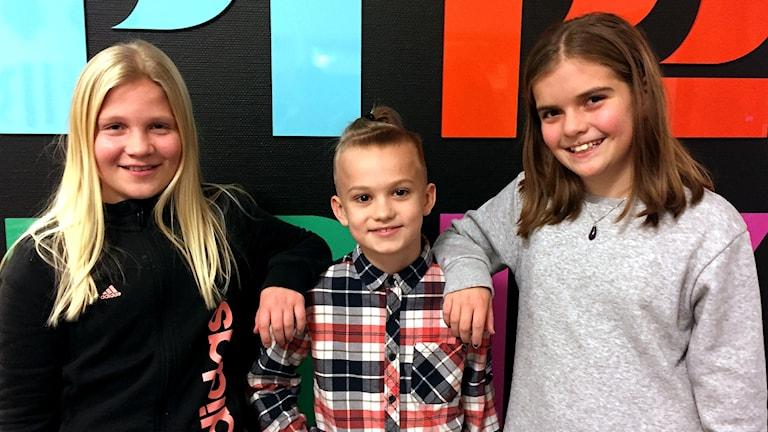 Bild på barnen i juniorpanelen.