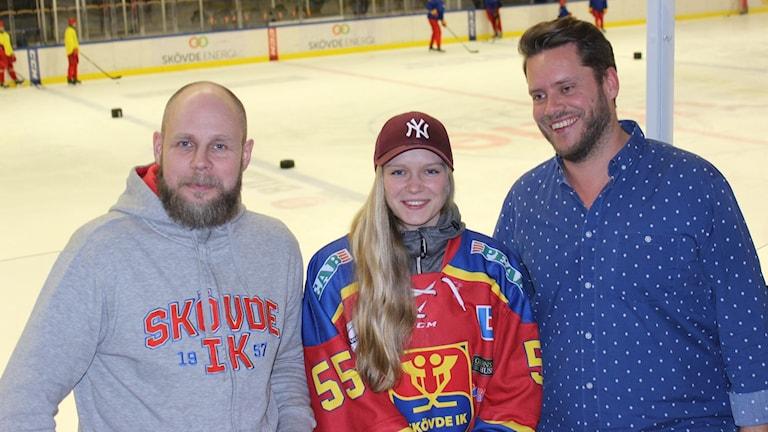 Sportchef Anders Lundström, Emelie Georgsson, ordf Alexander Fornsjö