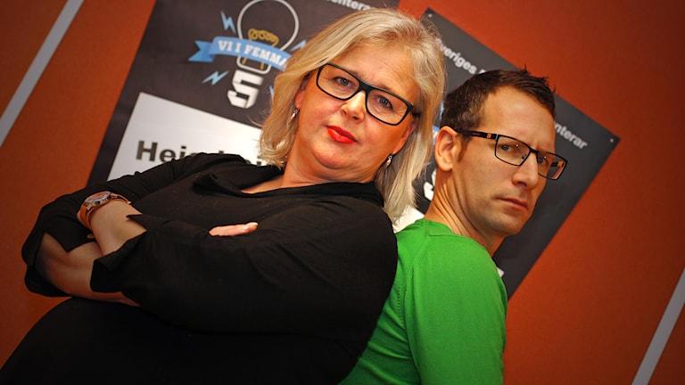 Anna-Karin Johnson och Torbjörn Borg. Foto: Marthina Stäpel / P4 Skaraborg Sveriges Radio