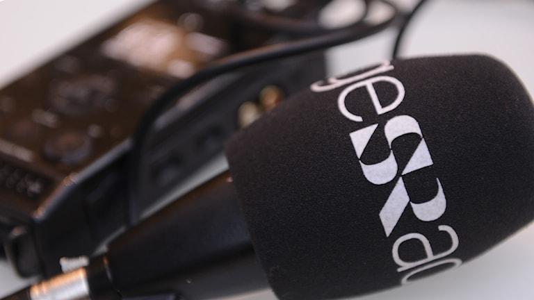 Mikrofon. Foto: Katja Magnusson / Sveriges Radio