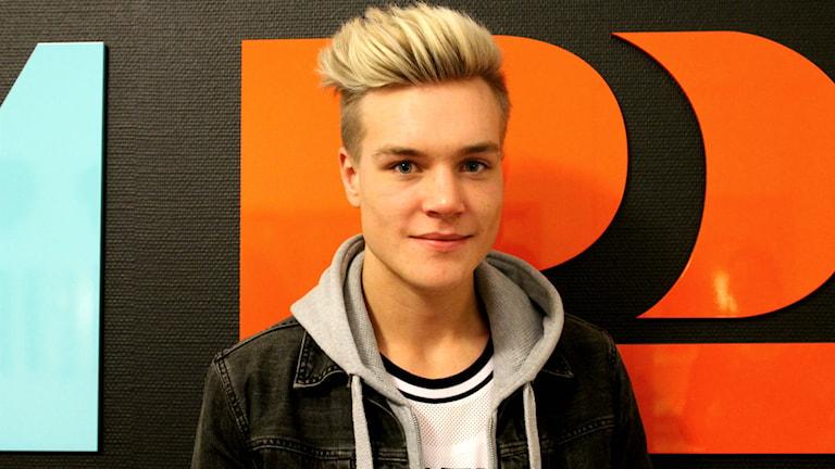 Johan Hammenfors från Grästorp klar för kvalveckan i Idol 2015. Foto: Anna Öfverman / Sveriges Radio