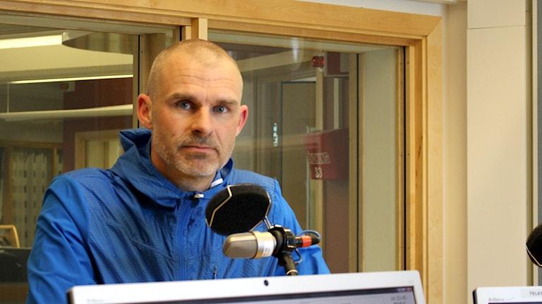 Mikael Lerjéus är fotbollsdomare från Skövde. Arkivfoto: Marie Schnell / P4 Skaraborg Sveriges Radio