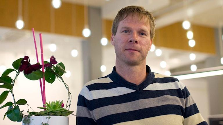 Ulf Lindholm, skadechef på Länsförsäkringar Skaraborg. Foto: Marthina Stäpel / Sveriges Radio.