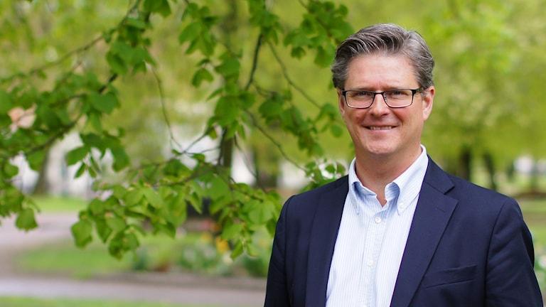 Dan Sandén, Skövdebostäders vd. Foto: Marthina Stäpel / Sveriges Radio.