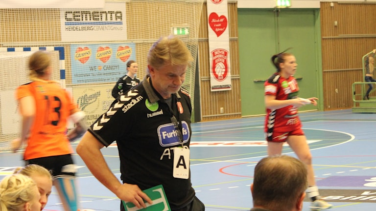 Skövde HF:s tränare Magnus Frisk.