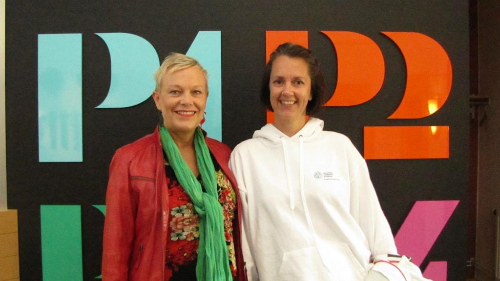 Förlossningsinspiratörerna Anne Melbe och Sofia Wallin kan snart titulera sig författare. Foto: Kalle Kovács/ Sveriges Radio